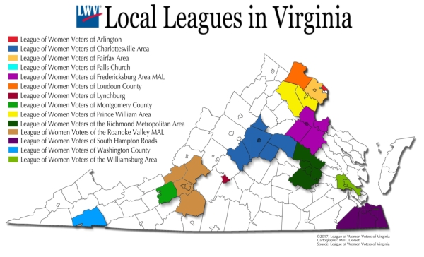 VA Local League Map
